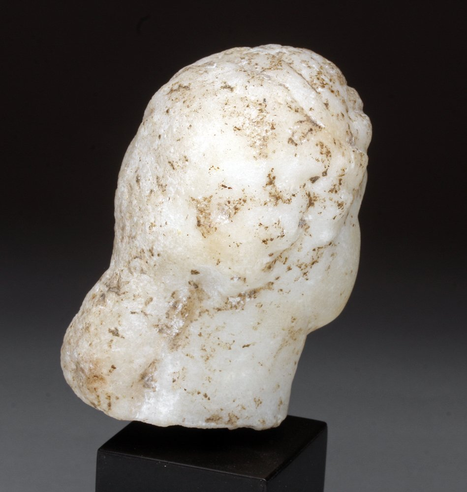 Roman Marble Head of a Woman - 3