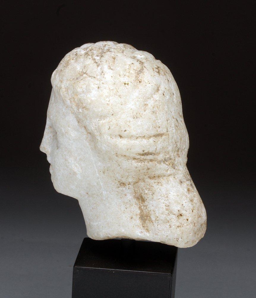 Roman Marble Head of a Woman - 4