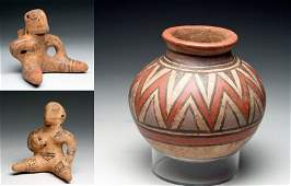 Lot of 3 Panamanian Pottery Items