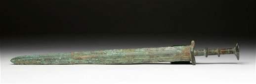 Chinese Warring States 2Ring Bronze Sword