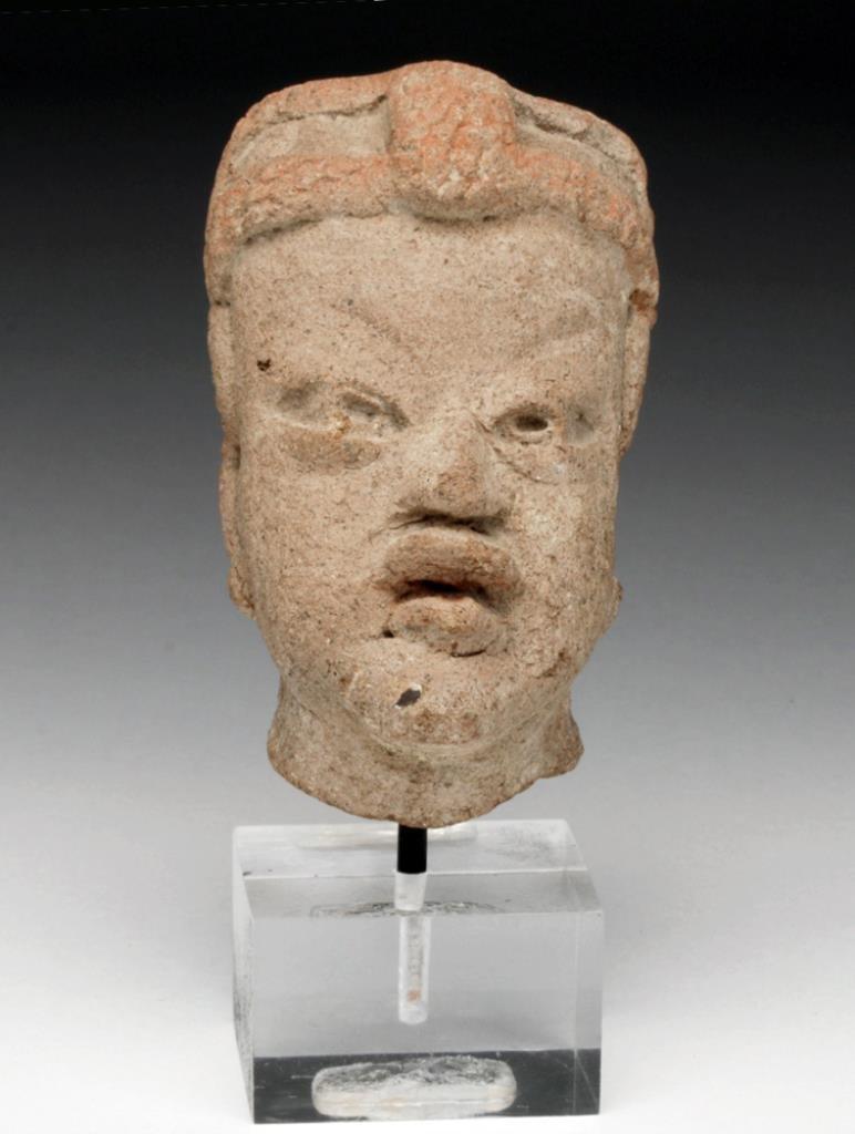 Realistic Pre-Columbian Olmec Baby Head