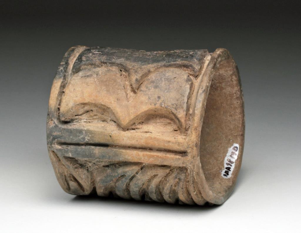 Pre-Columbian Olmec Ceramic Roller Stamp