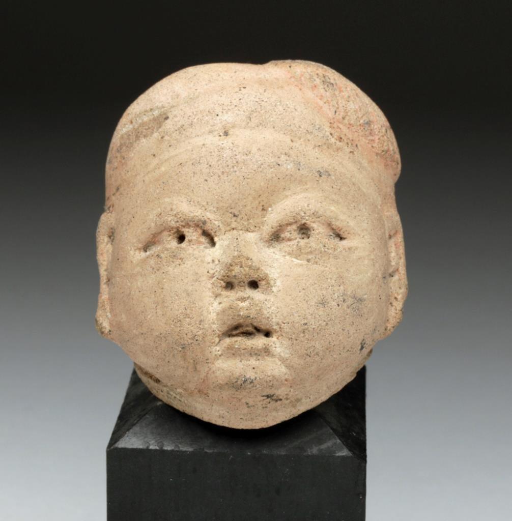 Pre-Columbian Olmec Baby Head