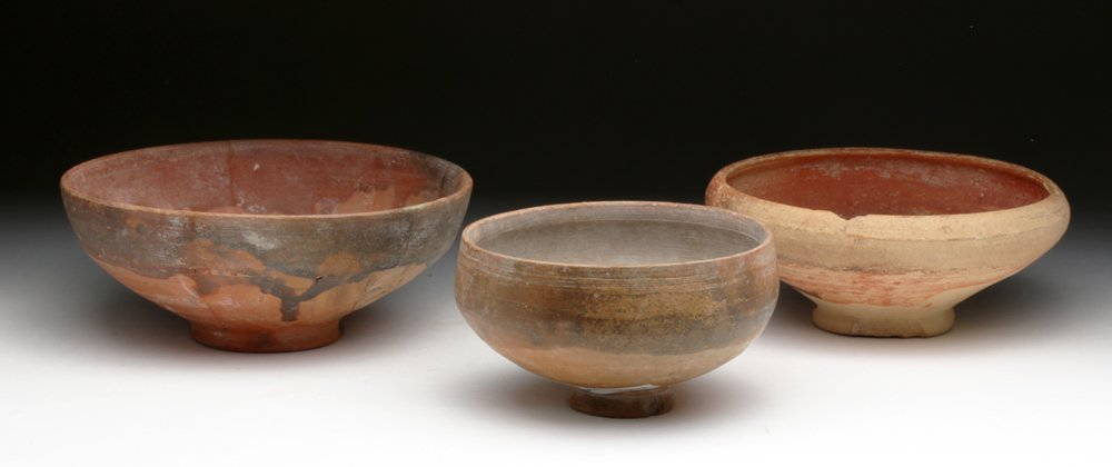 Lot of 3 Hellenistic Ceramic Bowls