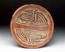 Panamanian Cocle Polychrome Pedestaled Bowl