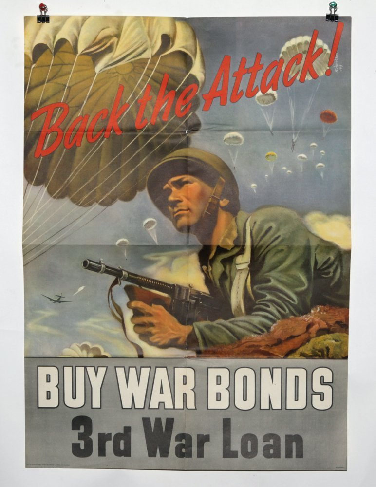 Lot of 2 WWII War Bond Posters - 2