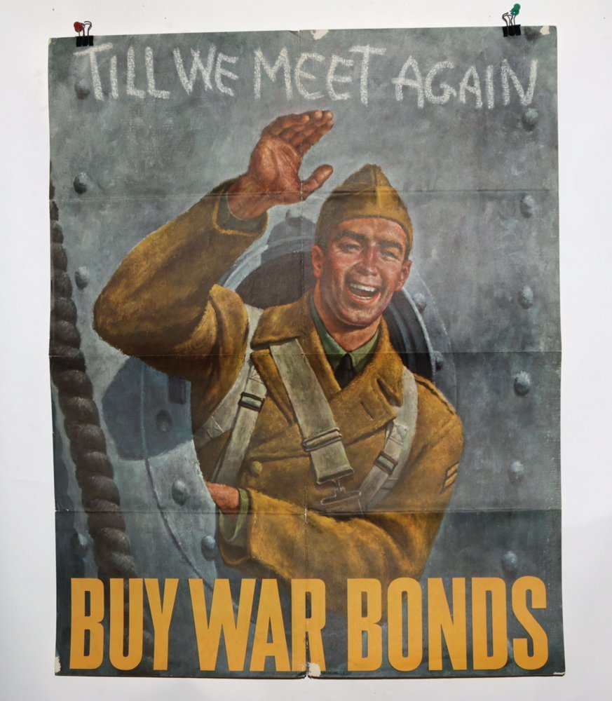 Lot of 2 WWII War Bond Posters - 3