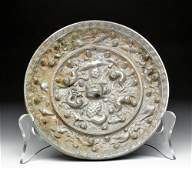 Chinese Tang Dynasty Silvered Bronze Mirror