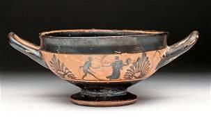 Greek Attic Pottery BlackFigure Kylix