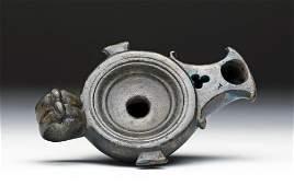 Small Roman Bronze Oil Lamp