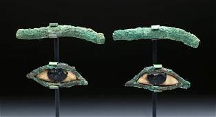 Egyptian Bronze / Stone Eyes (from a Sarcophagus)