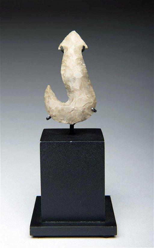 Native American Stone Eccentric Fish Hook, ex-Museum - Jun 30, 2015
