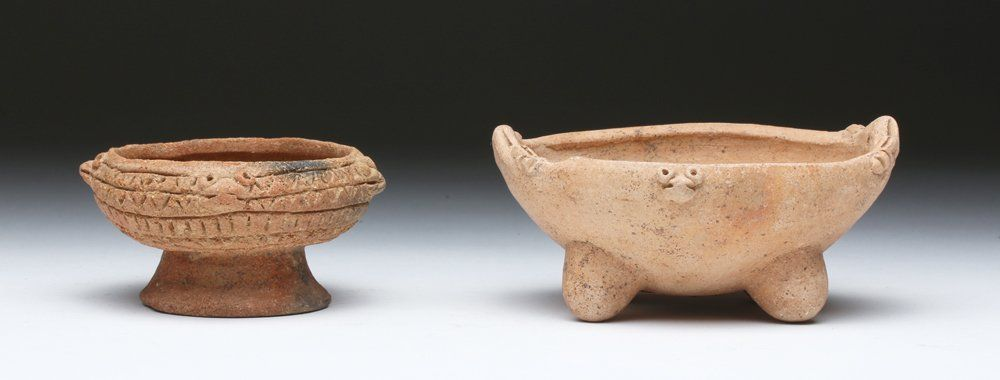 Pr. Panamanian Chiriqui Terrago Bisque Bowls