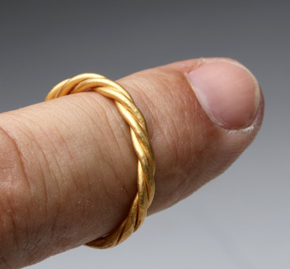 Viking Braided Gold Ring - Tests 22k+