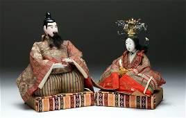 Pr Japanese Meiji Period Hina Dolls  Emperor  Empress