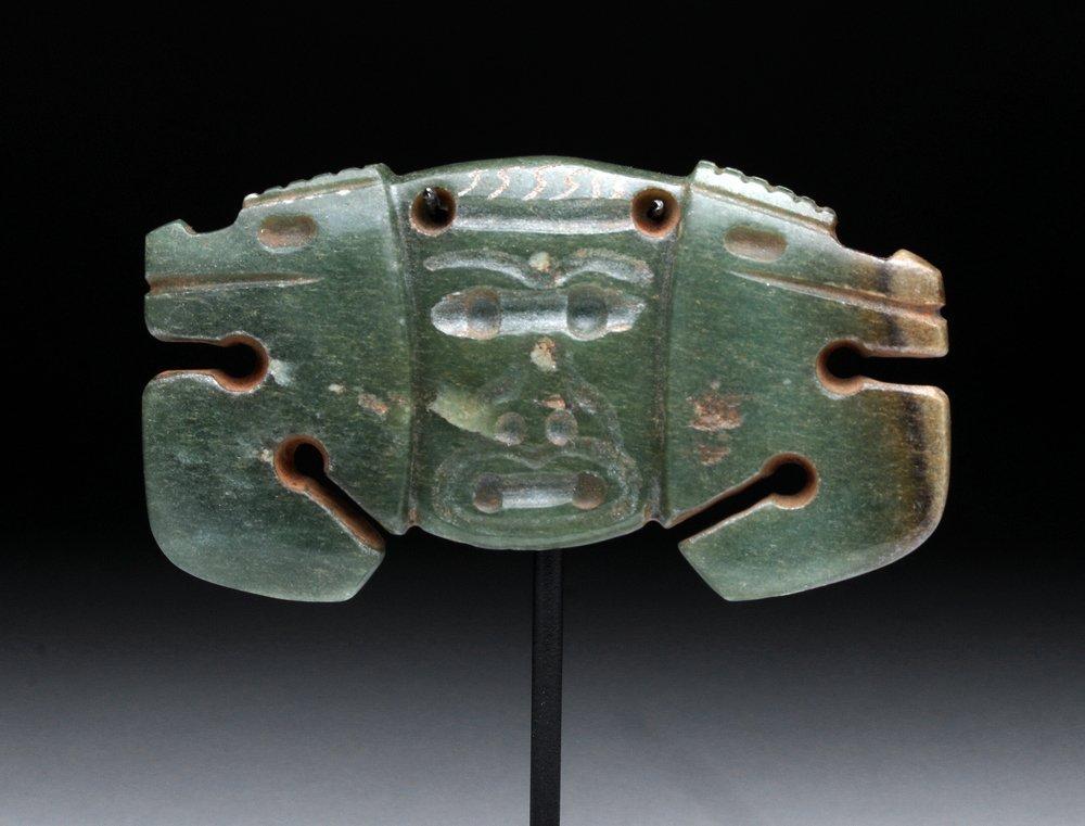 Superb Costa Rican Jade Pendant - Twin Crabs - 2
