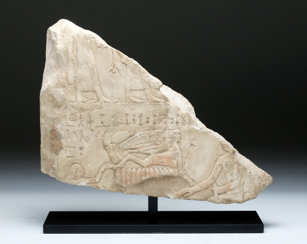 Translated Egyptian Stone Stele Fragment