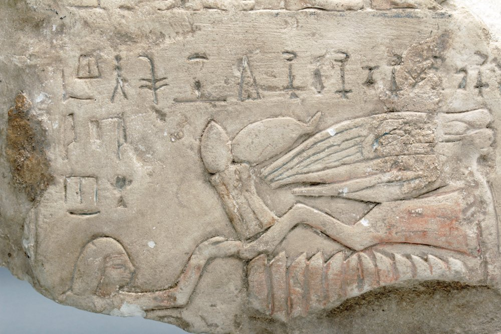 Translated Egyptian Stone Stele Fragment - 6