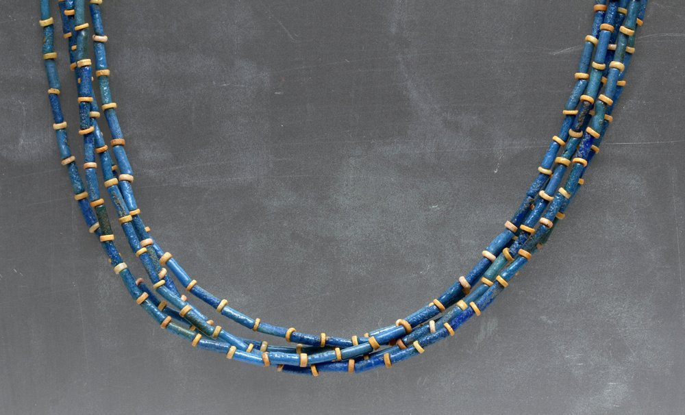 Rare Egyptian Amarna Period Faience Bead Necklace