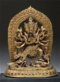 19th C. Nepalese Gilt Bronze Yab-Yum, Ex-Sotheby's