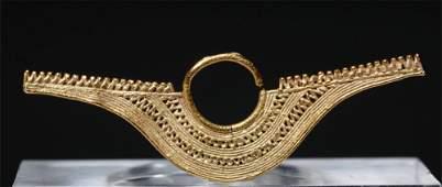 Very Fine PreColumbian Sinu 14K Gold Nosering