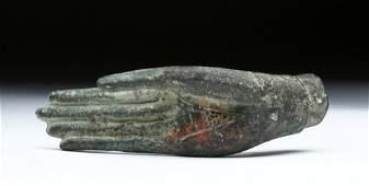 19th C Thai Bronze Blessing Hand from a Buddha