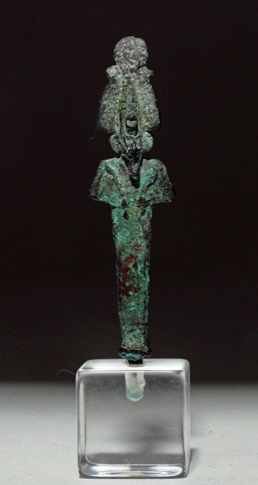 Egyptian Bronze Standing Osiris