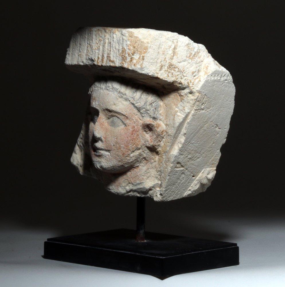Romano Egyptian Limestone Bust