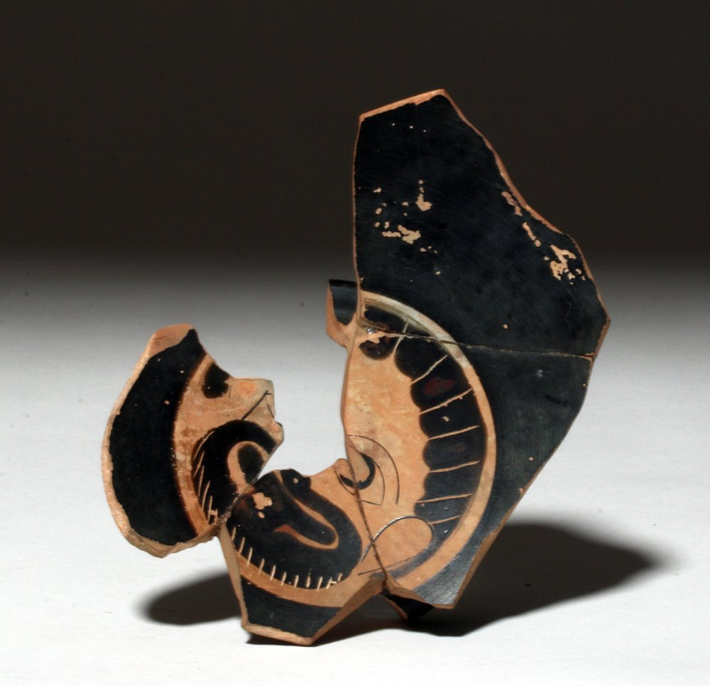 Greek Attic Pottery Fragment - Actor's Mask