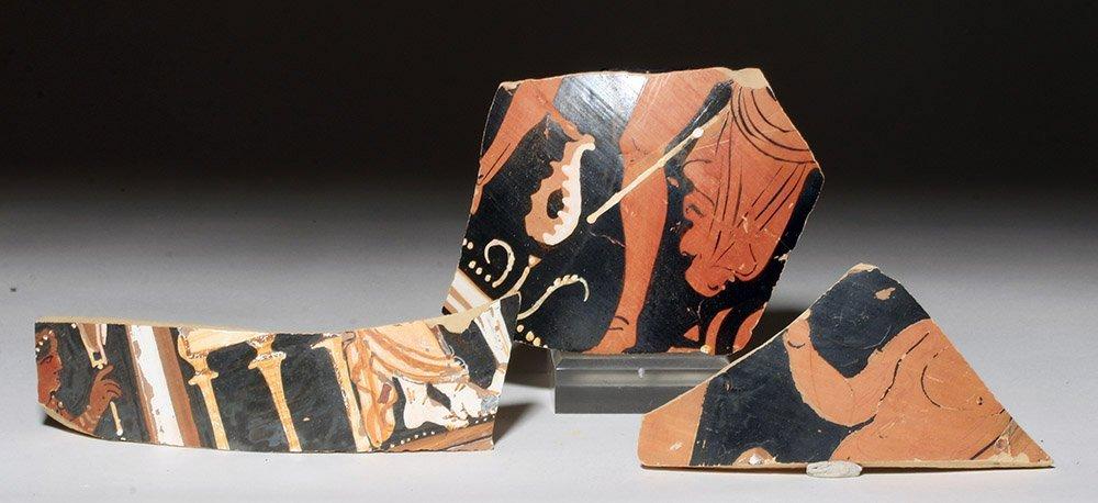 Greek Apulian Red Figure Fragments