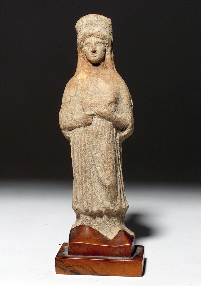 Greek Pottery Statue of Demeter