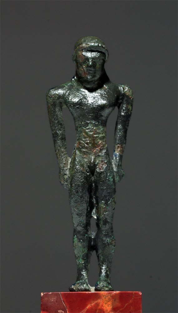 Etruscan Bronze Statuette of Kouros