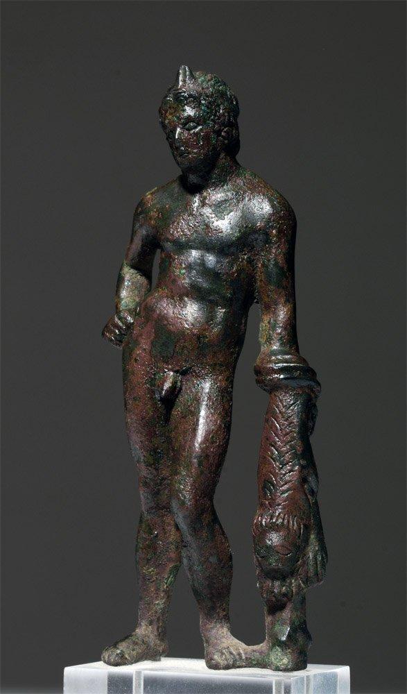 Roman Bronze Hercules Figure