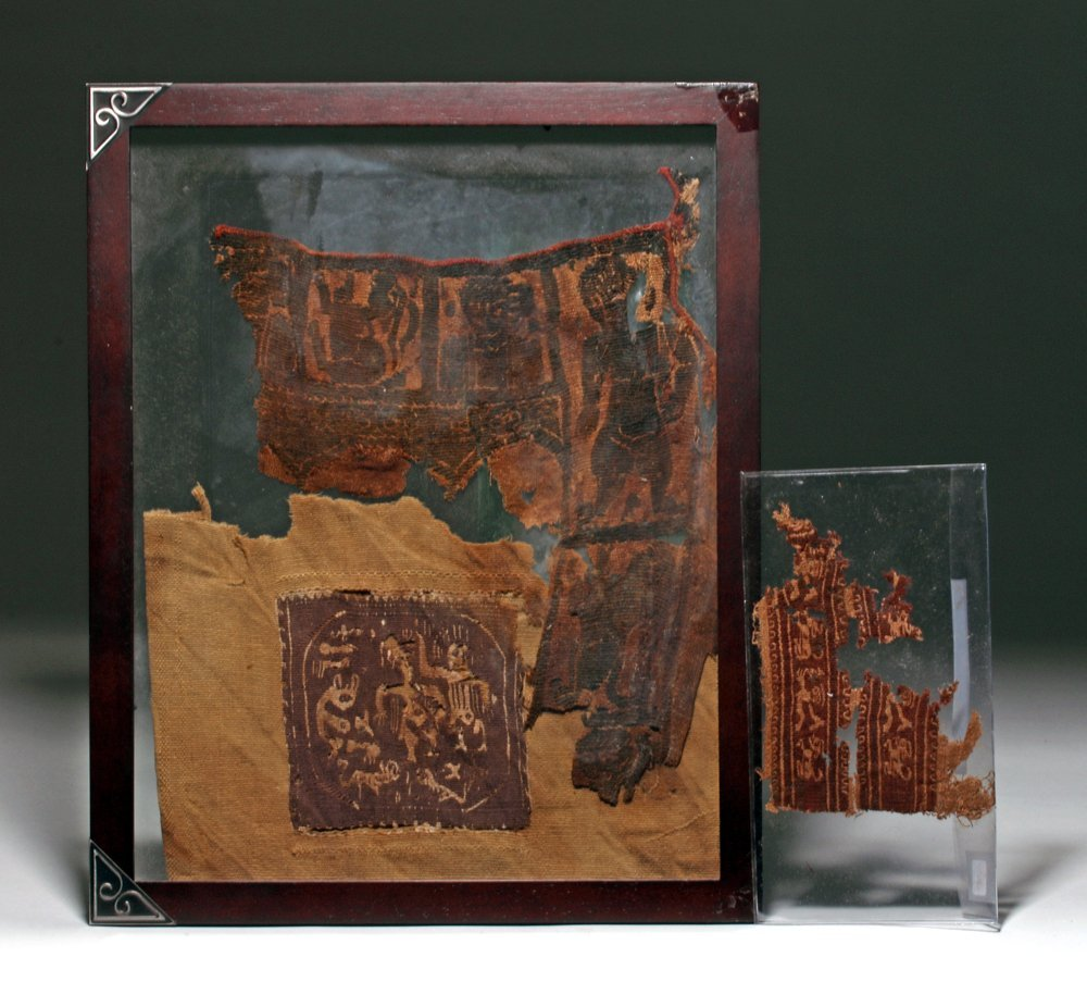 Lot of 3 Romano-Egyptian Textile Panels
