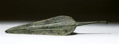 Huge Luristan Bronze Spear Head. ex-Piscopo