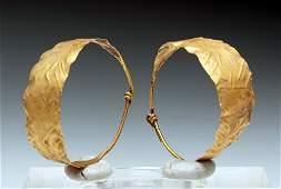 Gorgeous/Wearable Viking 24K Gold Earrings (pr)