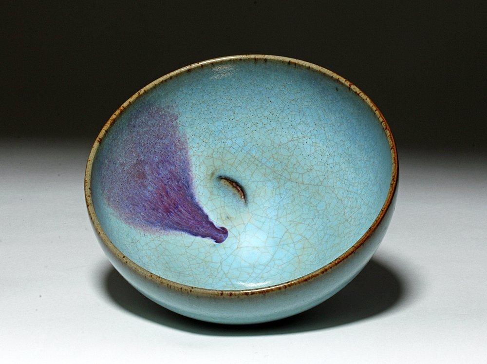 Chinese Junyao Purple-Splashed 'Bubble' Bowl