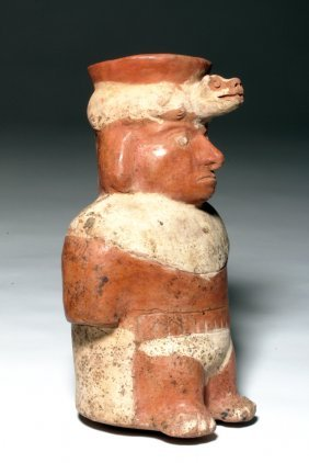 Moche Pottery Jar In Form Of Amputee