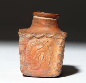 Mayan Terracotta Poison Pot - Kukulcan / Quetzal