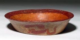 Rare Mayan Copador Plate - Transformational Beings