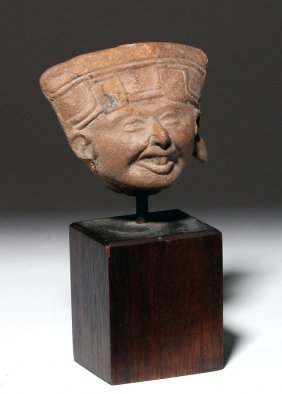 Veracruz Sonriente Head Of Pottery Whistle