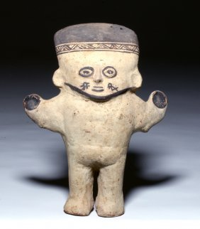 Very Fine Chancay Pottery Cuchimilco Figure