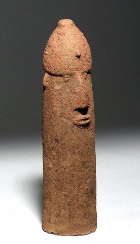 Bura-asinda-sikka Funerary Phallic Urn W/ Human Visage