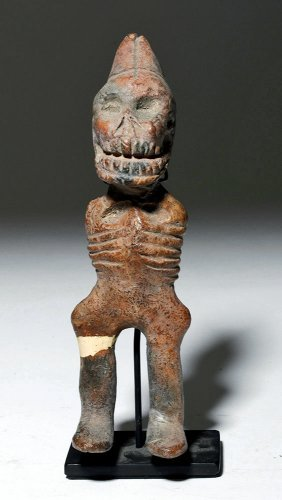 19th C. Mexican Ceramic Skeleton Puppet Mold