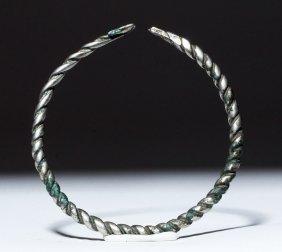 Lovely Viking Silver Neck Torque - Child's