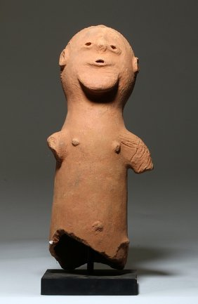 Superb Early European Wooden Face Of Christ