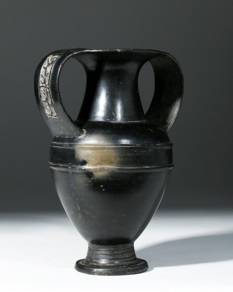 Etruscan Bucchero Amphora, Nikosthenic Style, ex-Ede