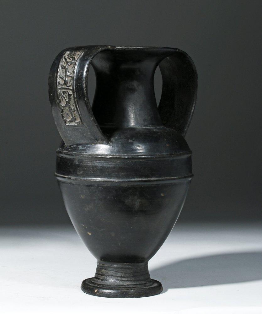 Etruscan Bucchero Amphora, Nikosthenic Style, ex-Ede - 4