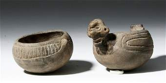 Pair Taino Pottery Adorno Vessels ec Art for Eternity