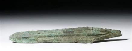 Hefty Chinese Bronze Dagger Blade exPiscopo